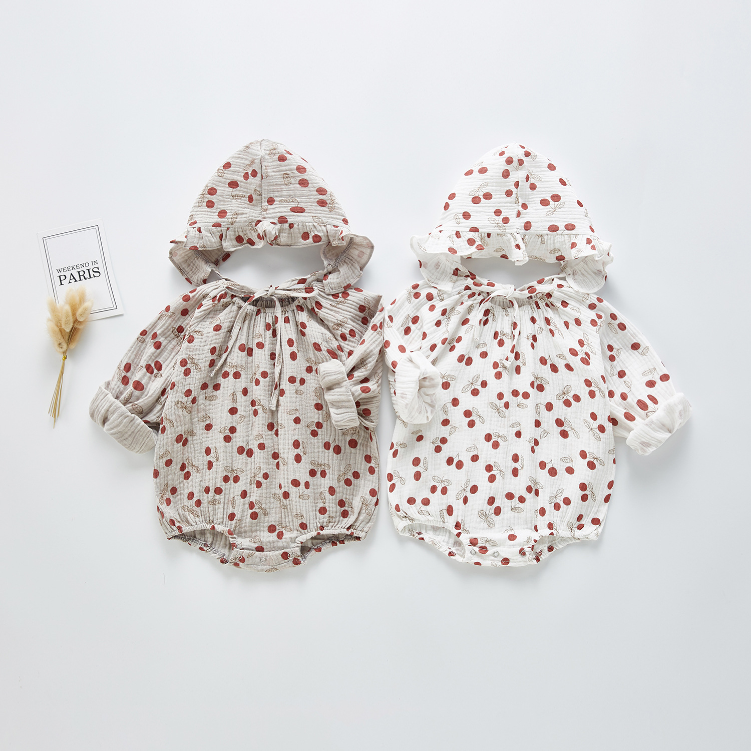 Baby Girl Rompers Newborn Infant Baby Girls Dot Print Romper Cotton And Linen Jumpsuit Spring Princess Clothes With Hat