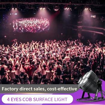 4 Eye 200w Cob Light Warm+Cold White COB Wash Effect Stage Lighting DMX512 LED Par Surface Lights Spotlight Optional Con