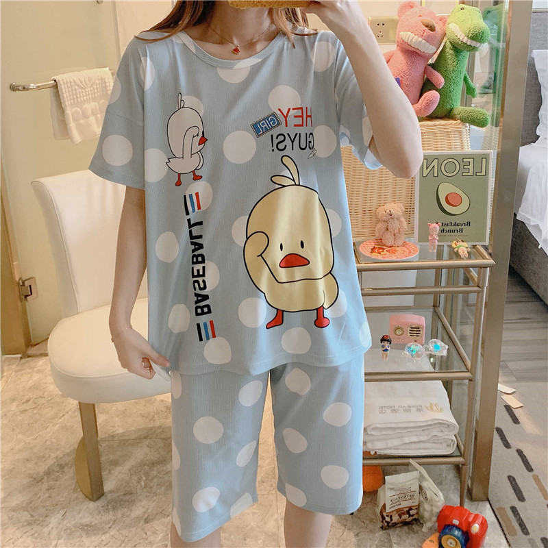 Fashion Women Lovely Wear Leisure Clothes Personality 2020 Summer Short Sleeved Women Pajamas For Women Pyjamas Sets Nightwear