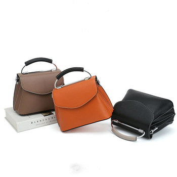 WOMEN'S Leather Bags Messenger Bag Fashion Solid Color Simple