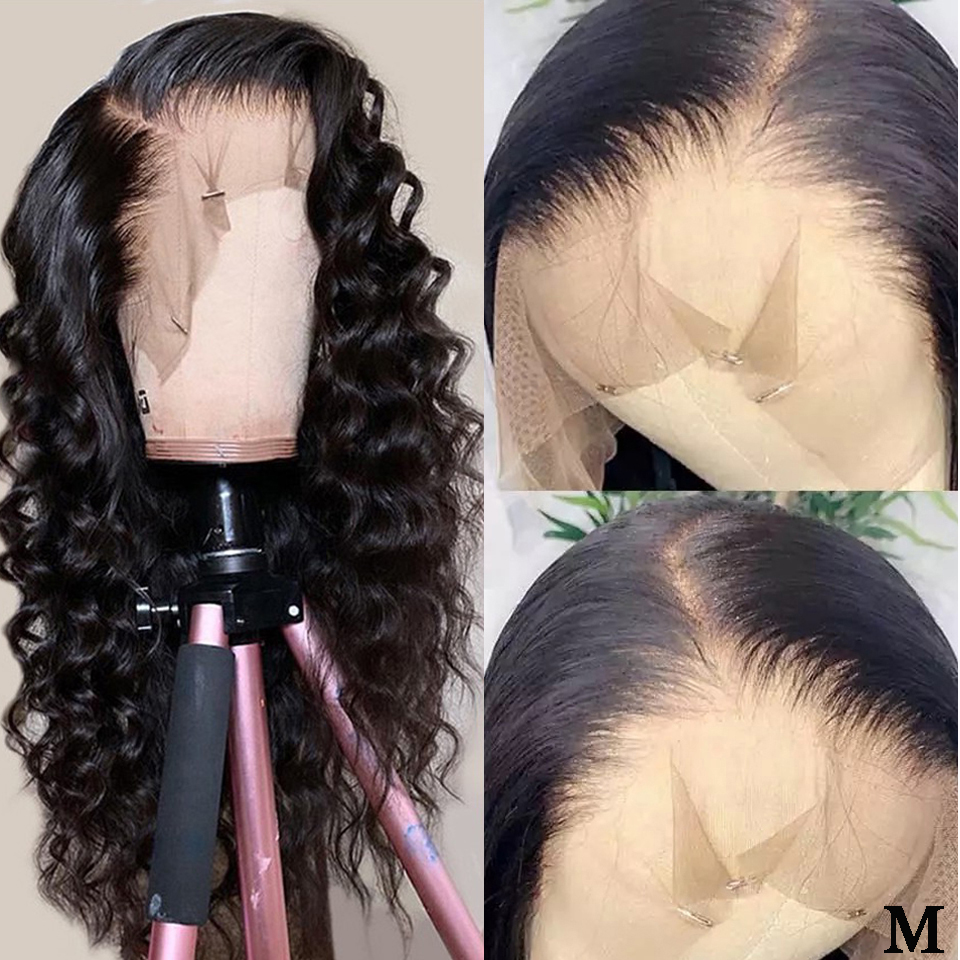 13X6 Deep Part Lace Front Human Hair Wigs Pre Plucked Natural Hairline 150% Density Remy Brazilian Loose Wave Lace Front Wig