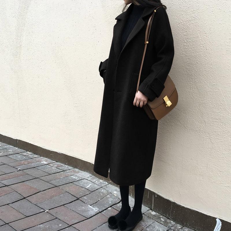 2020 Plus Size Autumn Winter Coat Women Warm Cashmere Jacket Long Wool Coats Thick Womens Jackets Casaco Feminino WXF487