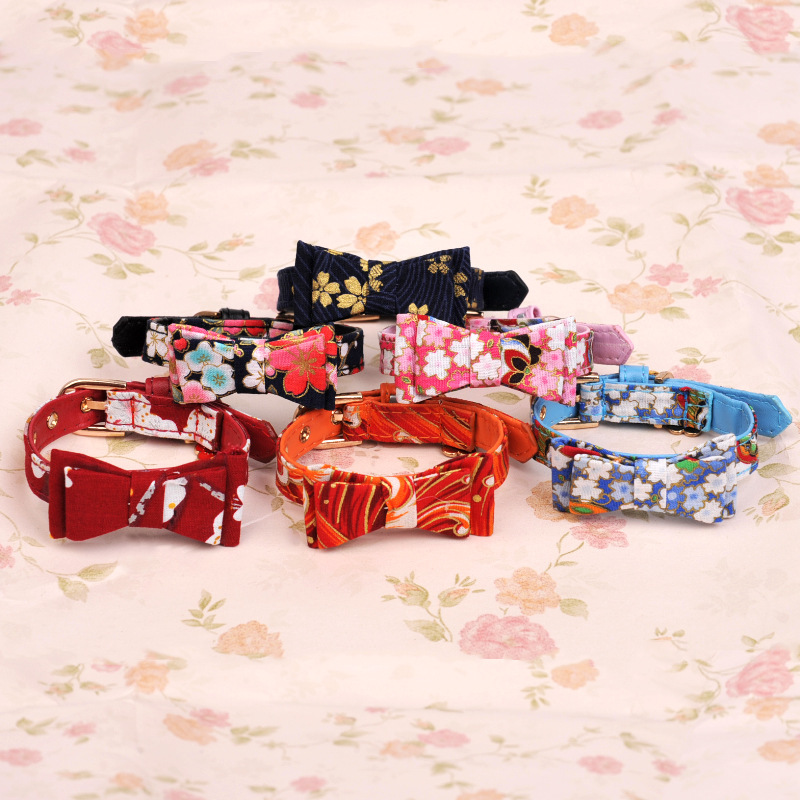 2018 New Style Small Dog Cat Neck Ring Handmade Bow Neck Ring Pet Teddy Pomeranian Dog Cat Accessories