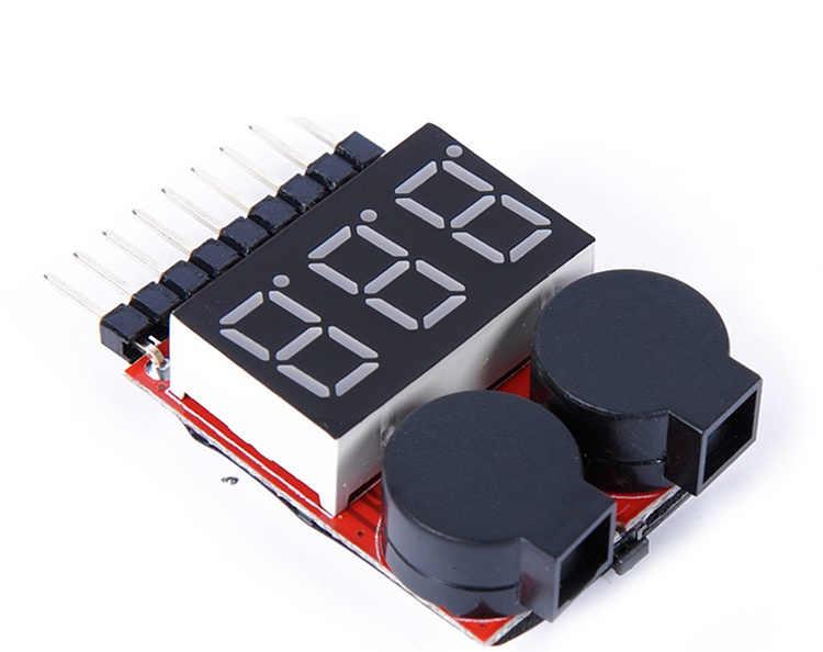 สำหรับ 1 S/2 S/3 S/4/4S/5s/6 s/7 s/8 S แรงดันไฟฟ้าต่ำ Buzzer ALARM Lipo ตัวบ่งชี้แรงดันไฟฟ้าเครื่องทดสอบขายส่งราคาสำหรับ 3.7 V 7.4 V 11.1 V