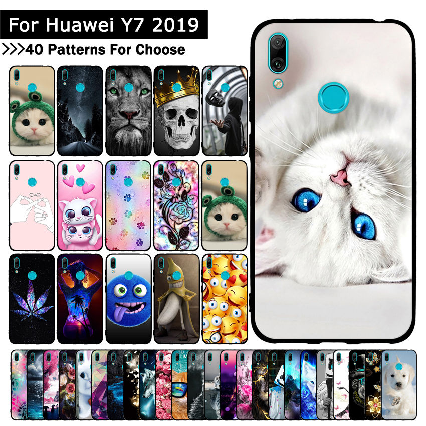 <font><b>Case</b></font> for <font><b>Huawei</b></font> <font><b>Y7</b></font> Pro <font><b>2019</b></font> <font><b>covers</b></font> <font><b>Y7</b></font> Prime <font><b>2019</b></font> Silicone TPU Animal Shells Bags for Funda <font><b>Huawei</b></font> <font><b>Y7</b></font> <font><b>2019</b></font> Phone <font><b>Case</b></font> Capa image