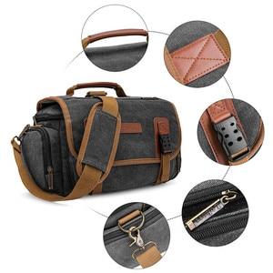 Image 4 - Sling slr fotografia digital bolsa de ombro homem/mulher ao ar livre travelwaterproof náilon câmera mensageiro bolsa para lente da câmera