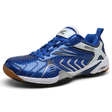 2020 Blue Men Stability Anti-Slippery Volleyball Shoes Unisex Breathable Table Tennis Shoes Women Sports Training Sneakers