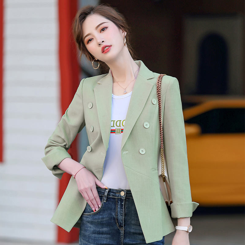 Ladies professional blazer high quality 2020 spring and autumn casual striped women's jacket Office Small suit Feminine