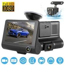 цена на 1080P Car DVR 3 Cameras Lens 4.0 Inch Dash Camera Dual Lens With Rearview Camera Video Recorder Auto Registrator Dvrs Dash Cam