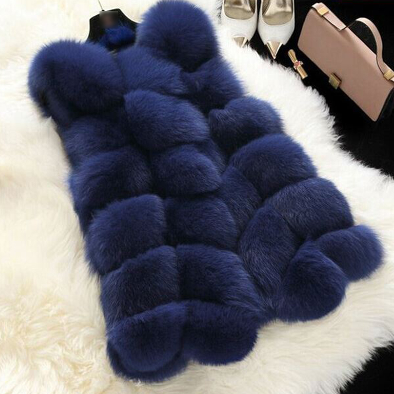 Winter Sleeveless Faux Fur Vest Women Warm Slim Outerwear Female Solid Patchwork Fur Overcoats 2019 Women Casual Fur Coats