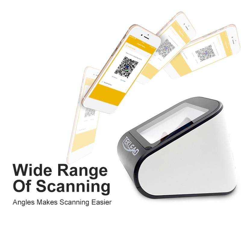 Настольный 1D 2D мобильный сканер штрих-кодов, считыватель штрих-кодов USB Plug and Play Auto scan