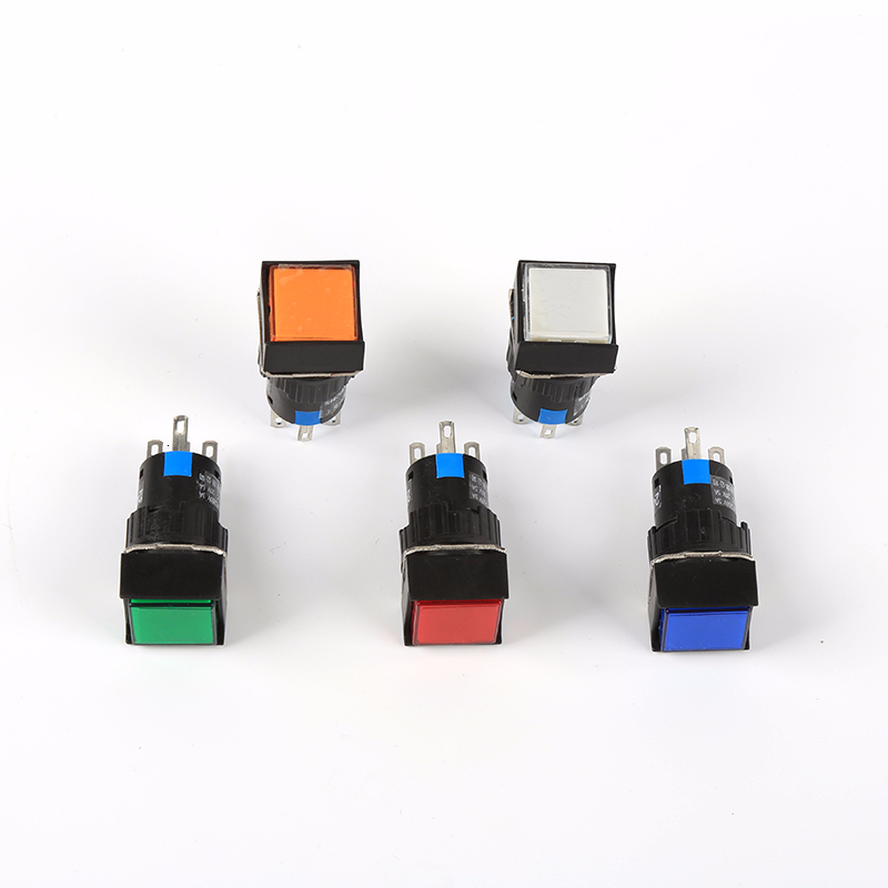 6V 12V 24V 220V Momentary LED Illuminuted Maintained Push Button Switches Latching Push Button 16MM
