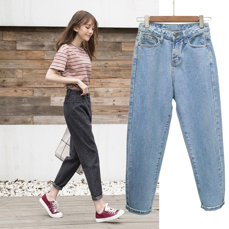 Summer Trendy Korean Jeans Women Spring  Style Simple Kawaii Harajuku Streetwear High Quality Womens Trousers All-match