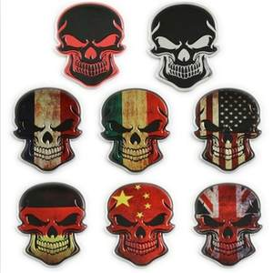 Decal Stickers Badge Emblem Fuel-Cap Motorcycle Car-Body-Styling Skull-Flag Skeleton
