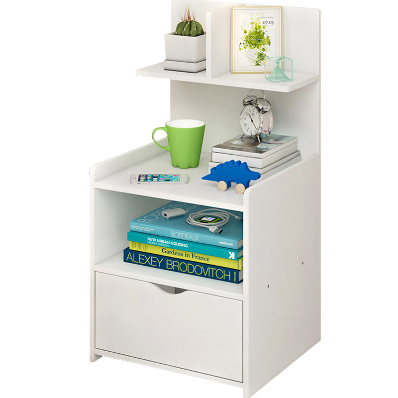 Simple Bedside Table Shelf Bedside Storage Small Cabinet Simple Bedroom Bedside Storage Cabinet Multifunctional