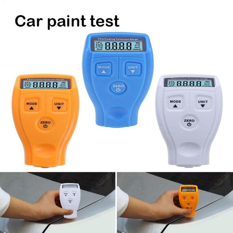GM200 Digital Car Painting Thickness Gauge Auto Metal Coating Lacquer Ferrous Thickness Tester Russian/English Manual Dropship