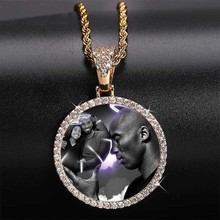 Custom Photo Memory Medallions Necklace & Pendant 4mm Tennis Chain Cubic Zircon Men's Hip hop Personalized Jewelry