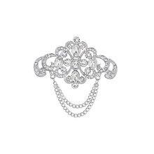 WEIMANJINGDIAN-broches à chaîne en strass, cristal clair, décoration artistique pour femmes ou mariage, vente directe d'usine