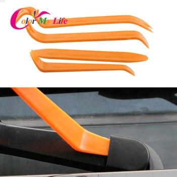 Автомобильный Стайлинг автомобиля радио инструмент для разборки 4 шт./компл. для Защитные чехлы для сидений, сшитые специально для Volkswagen Polo Golf 5 6 7 Vw B5 Audi A6 Opel Insignia фокус Mk1 Galaxy Saab