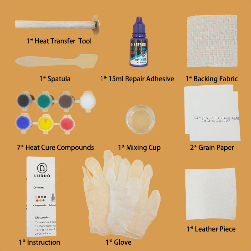 Купить с кэшбэком LUDUO Liquid Leather Vinyl Repair Kit Restorer Furniture Car Seats Sofa Jacket Purse Belt Shoes Cleaner Skin Repair Refurbish