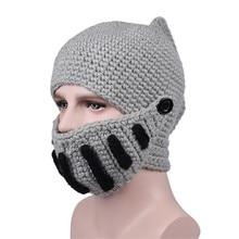 Зимние шапки для женщин, шапка для мужчин, новинка, маска, эластичная шапка, Римский рыцарь, вязаная шапка, шапка для выпадения волос, шарф, шапка