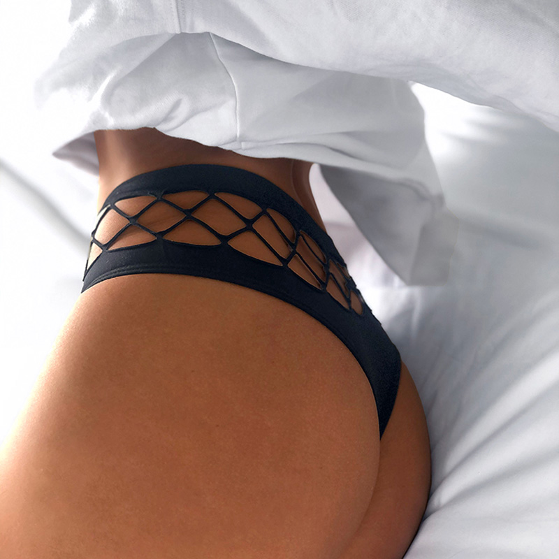 TERMEZY scava fuori Lingerie europa mutandine Sexy senza cuciture donna elasticità intimo tentazione vita media G String mutande 2