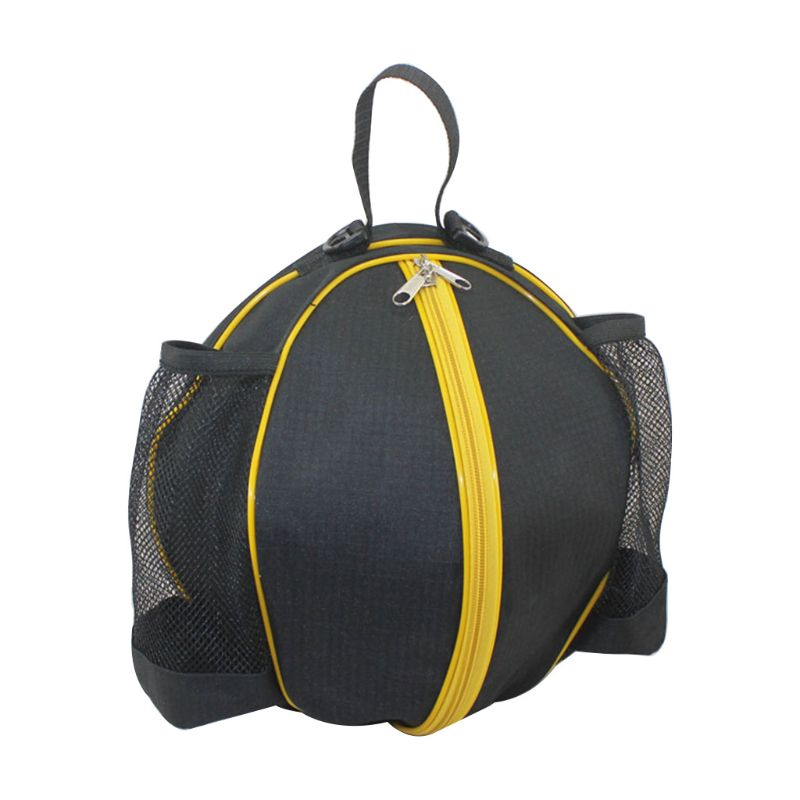 Universal Sport Bag Basketball Football Volleyball Backpack Handbag Round Shape Adjustable Shoulder Strap