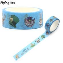 Flyingbee 15mmX5m Cartoon Cute Kids Washi Tape Paper DIY Decorative Adhesive Girls Masking Tapes Supplies X0272