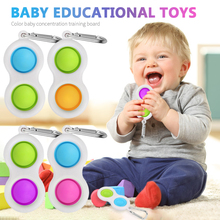 1pcs Baby Pinch Toy Fidget Simple Dimple Toy Stress Relief Hand Fidget Toys For Kid Adults Early Educational Autism Special Need