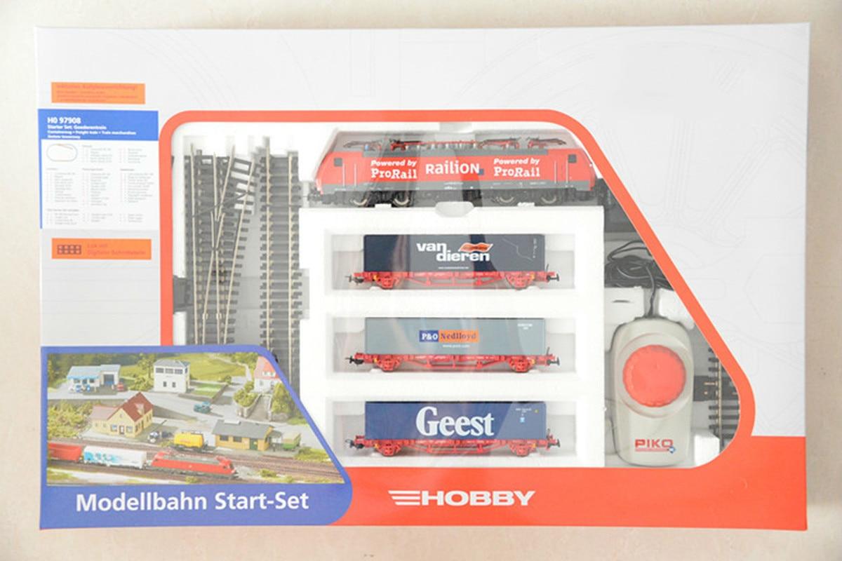 Набор немецких моделей поезда BR189 Локомотив: контейнерный вагон * 3 + трек + контроллер Хо пропорции детские игрушки - 2