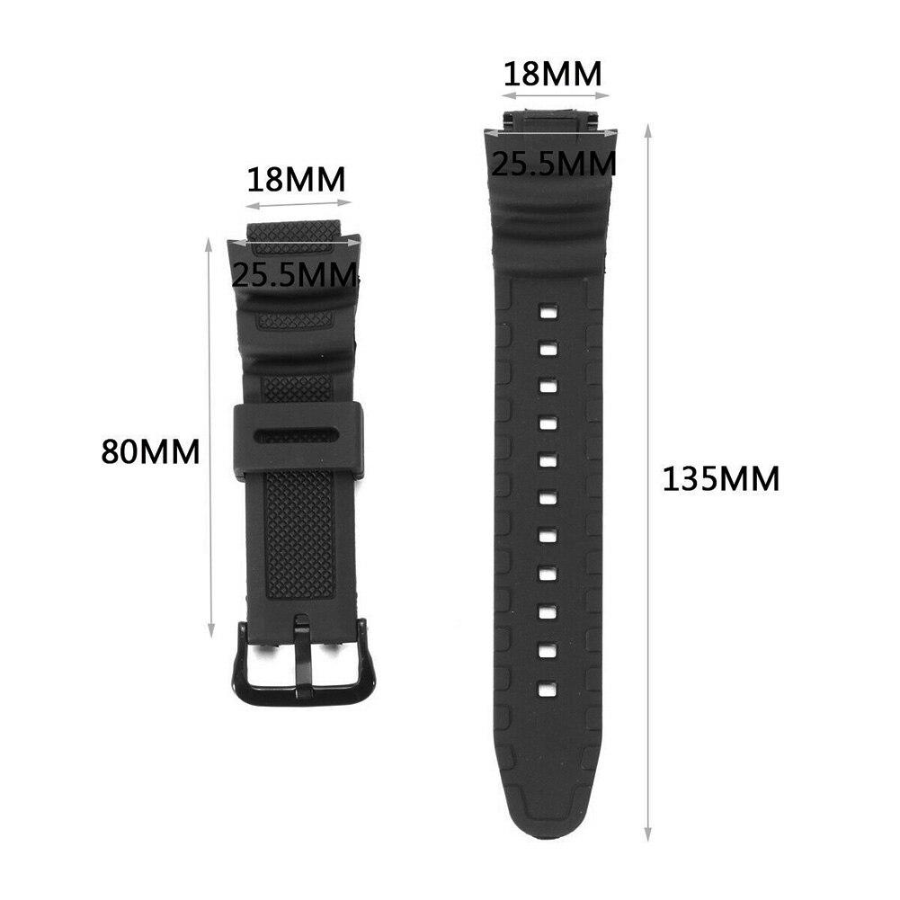 Replacement Digital Fashion Waterproof Watch Band Quick Release Wrist Strap Sport Bracelet Quartz Rubber PU For Casio AQ-S810W