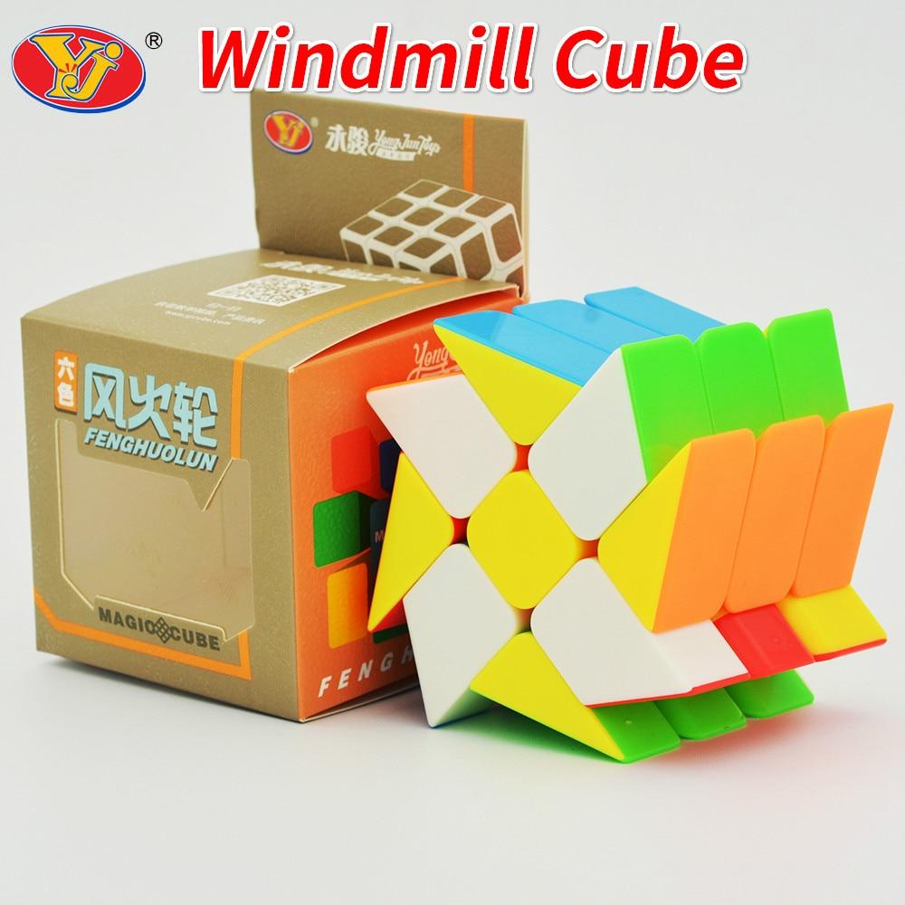 Yongjun 5.7cm 3x3x3 Windmill Cube Stickerless Original Magic Speed 3x3 YJ TOYS Cube Cubing Classroom Cubo Magico