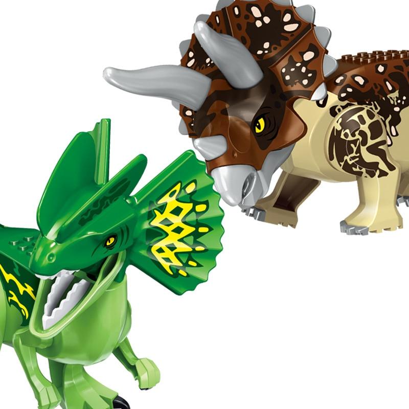 NEW 2020 Jurassic Building Blocks Dinosaur Tyrannosaurus Pterosaur Figures Bricks compatible Tyrannosaurus Assemble Kids Toys 2