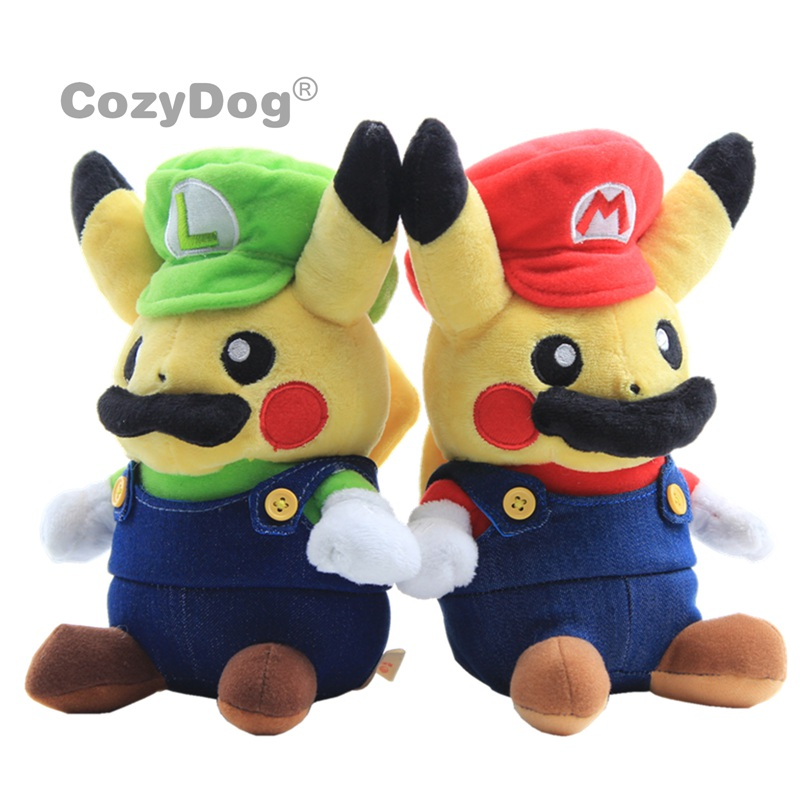 12cm Cute Pikachu Plush Toys Doll Peluche Anime Pikachu Cosplay Mario And Luigi Plush Toys Children Baby Christmas Birthday Gift