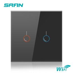 Image 2 - SRAN ab duvar Wifi ışık anahtarı 1/2/3Gang 1/2Way Interruptor akıllı, TUYA akıllı kablosuz anahtarı Alexa Google ev ile çalışmak