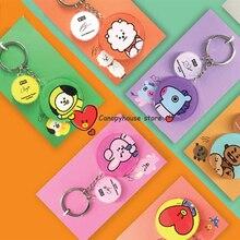 KPOP Bangtan брелок для мальчиков Корейская группа мультфильм фигура кулон брелок подарки