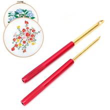 5pcs Embroidery Stitching Hollow Punch Needle Multi-functional Practical Conveni