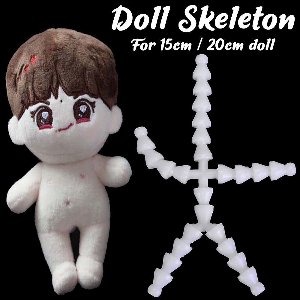 Hot Sale 15/20cm Dolls Skeleton New Skeleton Joint Plush Toy DIY Doll Accessories Suitable For Normal Body Type 15cm Dolls