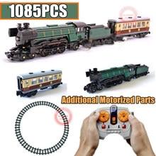 Motorized RC Motor Power Function Technic Emerald Night Train Fit Technic for 10194 City Kits Building Block Bricks Toy Kid Gift цены онлайн
