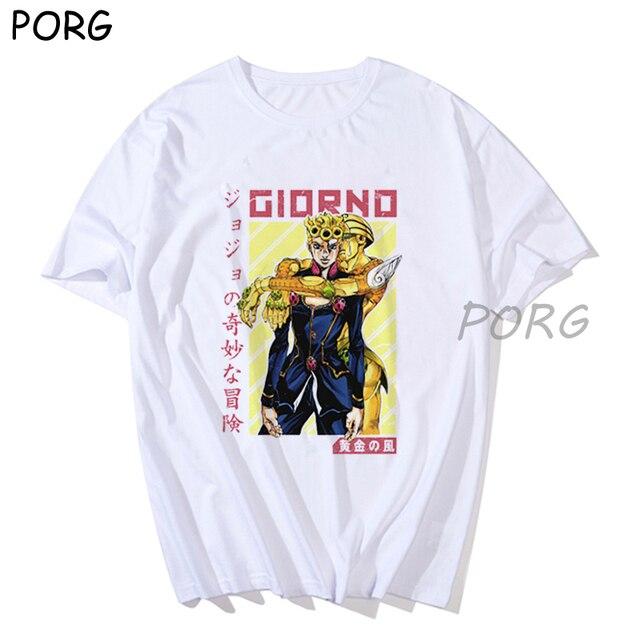jotaro kujo jojos bizarre adventure Funny Cartoon T Shirt Men Fashion Japanese Anime Graphic Summer Tshirt Hip Hop Top Tees Male 4