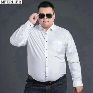 Image 5 - Antumn גדול גודל שמלת חולצות חתונה גברים משרד חולצה ארוך שרוול פורמליות עסקים oversize חולצה 10XL 9XL 12XL 60 56 58 סגול