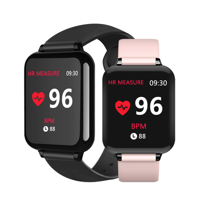 B57 relógios inteligentes à prova dwaterproof água esportes para iphone telefone smartwatch monitor de freqüência cardíaca funções de pressão arterial para mulher masculino garoto 1
