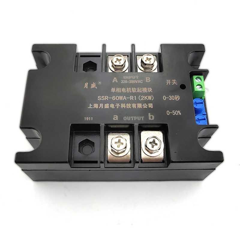 220V 1 Pha Xe Máy Mềm Khởi Động Module Controller2KW4KW6KW8KW Xe Máy Trực Tuyến Mềm Mại Bắt Đầu Từ QuạT Bơm Giảm Áp Băng Tải