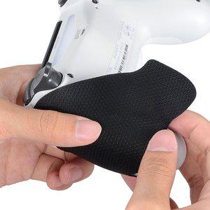 Image 2 - IVYUEEN 1 Paar Schwarz Anti slip Controller Grips Abdeckung Für Playstation Dualshock 4 PS4 PRO Dünne Control Smarter Tintenfisch hand Grip