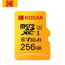 Kodak-tarjeta Micro SD 256GB de alta velocidad, Clase 10, U3, 4K, tarjeta de memoria Flash, 256GB