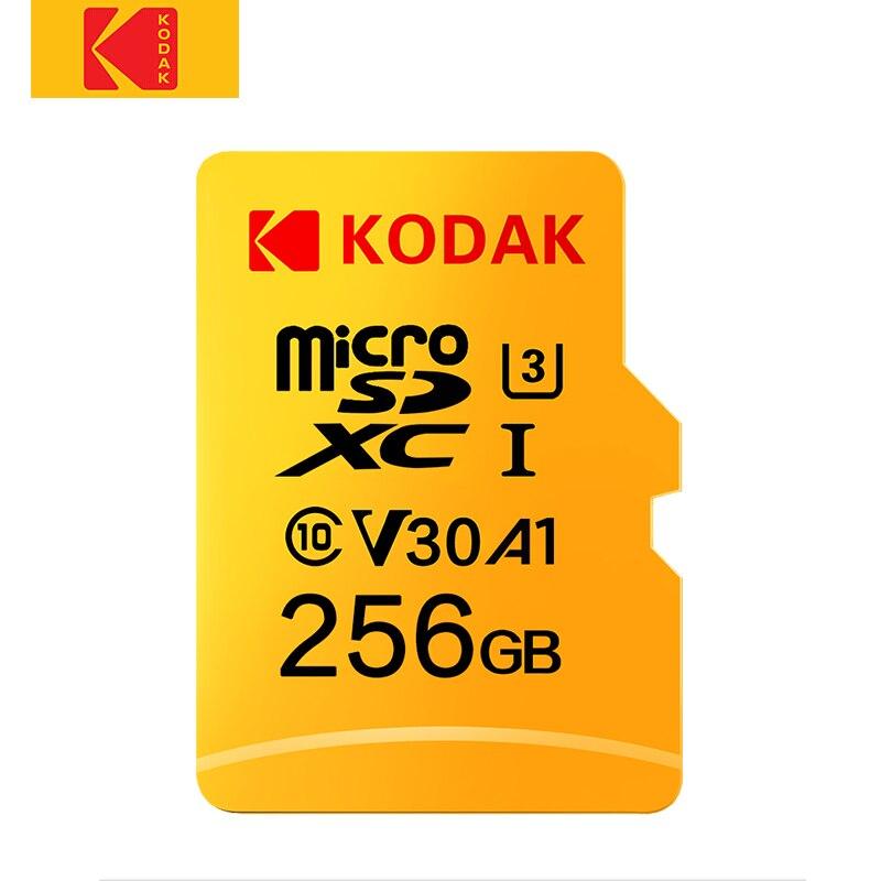 Tarjeta Micro SD Kodak de alta velocidad 256GB, Clase 10, U3, 4K, tarjeta de memoria Flash cartao de 256GB, tarjeta Micro sd kart