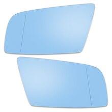 X Autohaux ayna cam ısıtmalı destek plakası ile yan dikiz aynası cam mavi 2004 2009 için BMW 525i 528i 530i