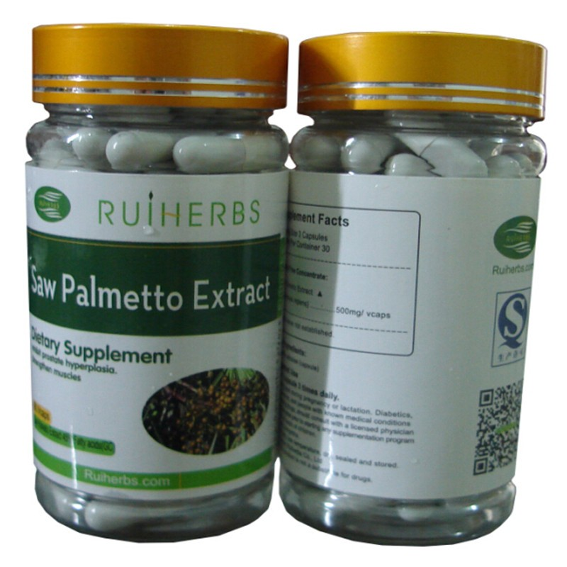3Bottles X Saw Palmetto Berry Extract  (500mg X 270Caps) 45% Fatty Acids For Prostate Health Hair Loss