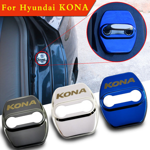 FLYJ 4PCS Car Door Lock cover Protect Buckle Cover car Accessories For Hyundai KONA Car sticker(China)