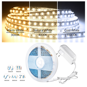 5M Super Bright 2835 SMD LED Strip Light+12V 24V 3A Power Supply 600/840/900/1020/1200 LEDs Diode Tape Ribbon 4000K 3000K 10000K